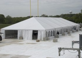 Clearspan Losberger tent at Ashford University graduation ceremony