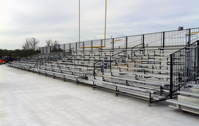 10 row. 104' expandable breakdown bleachers.