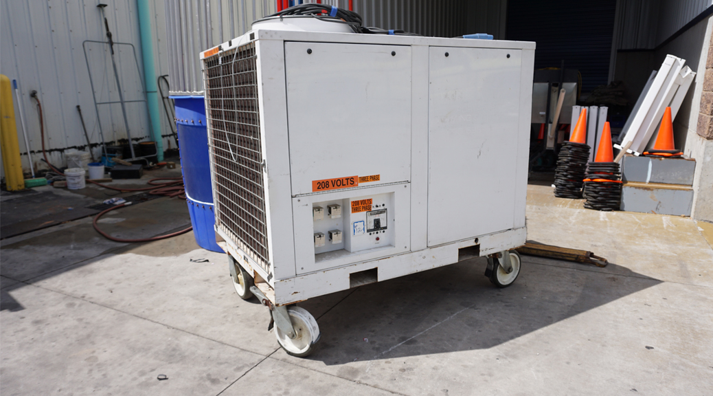 12-Ton air conditioning unit for rent outdoor commercial