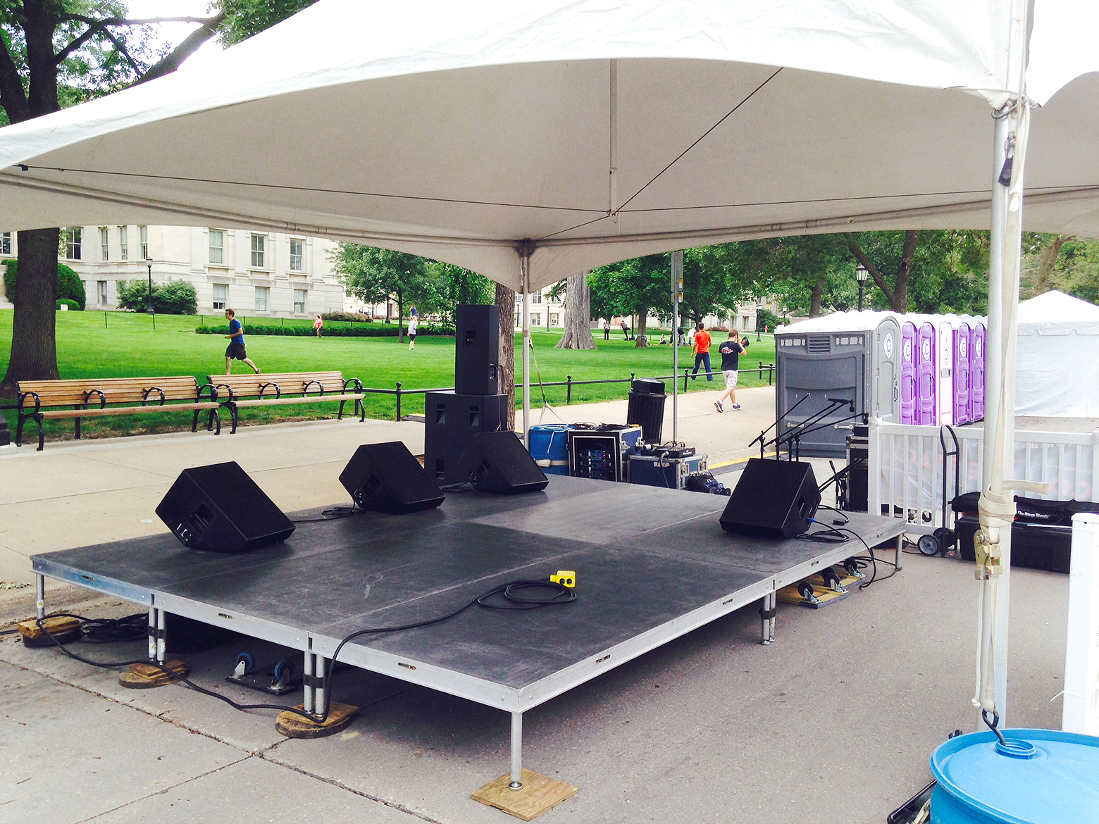 12 39 x 16 39 stage under tent iowa city cedar rapids for 12 foot craps table for sale