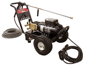 Rent our electric powered, 1,500 psi, cold water pressure washer.