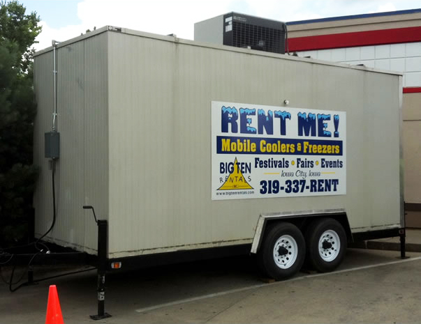 Emergency + Event Mobile Freezer Trailer Rental: IA, IL, MO