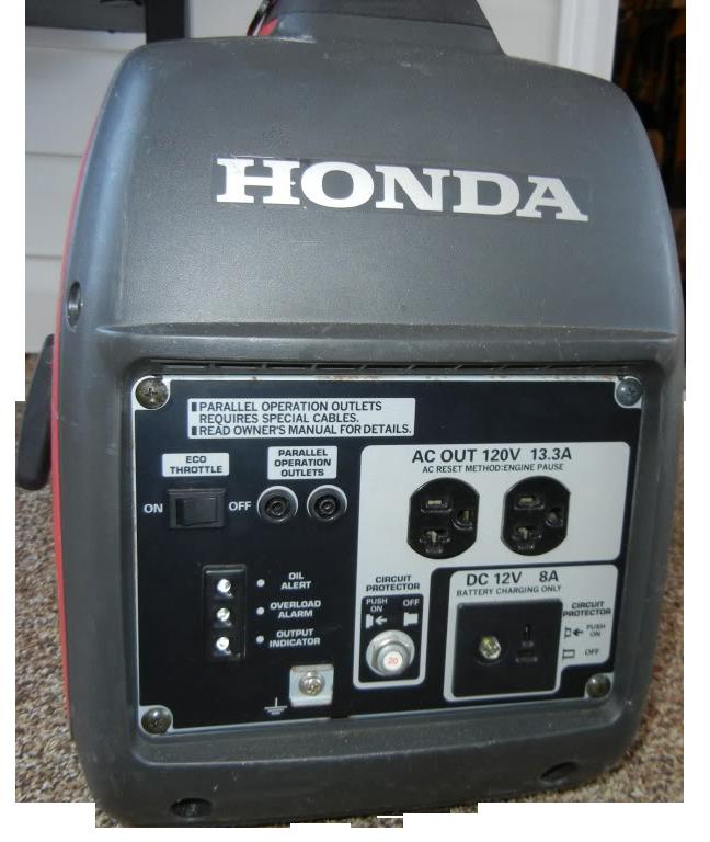 Silent, 2,000 Watt Generator By Honda.