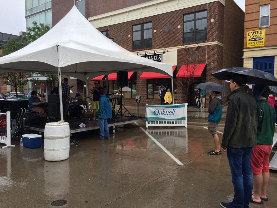 20' x 20' Frame event structure/tent rental: Iowa City, CR, IA