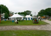 20 x 30′ white rope and pole tents for seating area