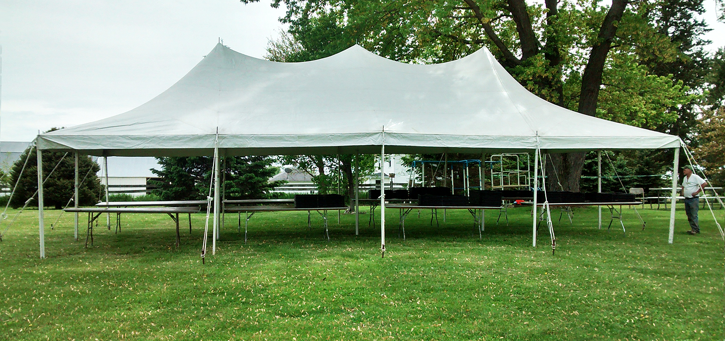 20 X 40 Elite Rope And Pole Tent Without Side Walls