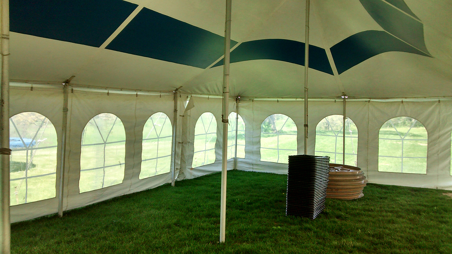 Inside Of A 20 X 40 Gala Rope And Pole Event Tent