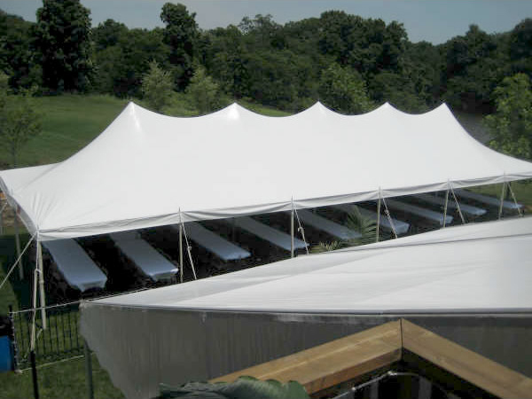Rent Our 20 X 60 Quot Rope And Pole Quot Event Tent Iowa City