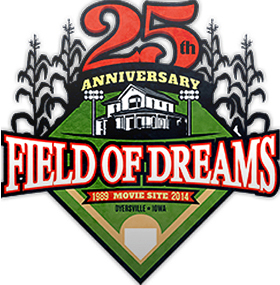 25th anniversary of field of dreams logo