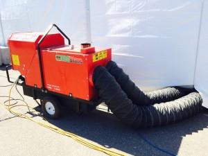 280k-400k btu Indirect Fired Oil or Diesel Heater