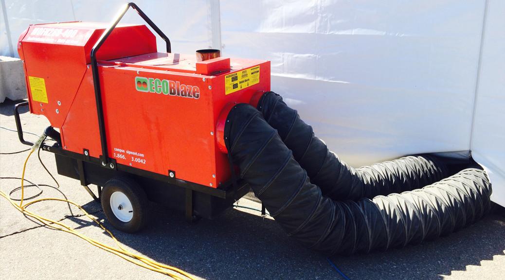 280k - 400k btu Indirect Fired Oil or Diesel Heater rental