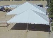 30′ x 30 frame and 40′ x 40′ hybrid tents.