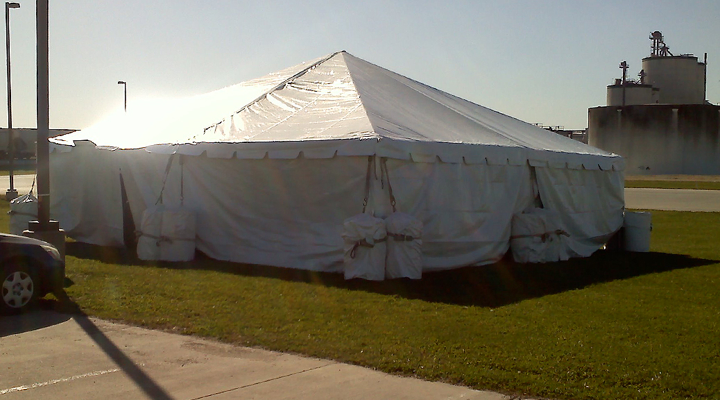 30'x30' Frame event tent/temp. structure rental: IA, IL, MO & WI