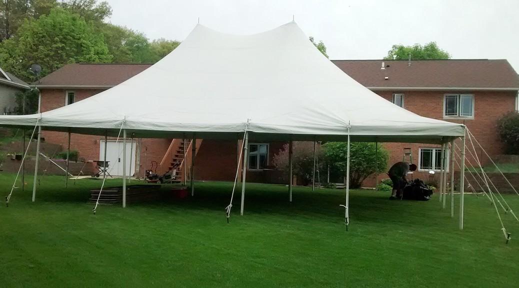 30 39 x 40 39 rope and pole tent rental in iowa city cedar rapids