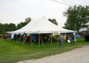 30′ x 45′ rope and pole tent for nicks kids show