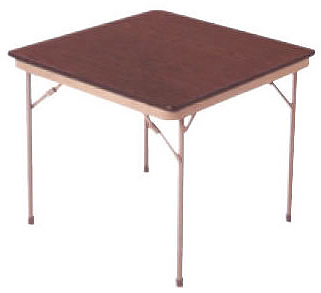 30 in. x 30 in. foldable card table.