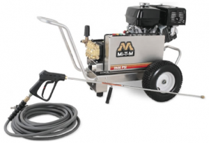 Rent our 3,500 psi, gasoline powered, cold water pressure washer.