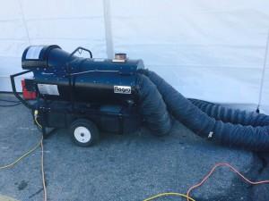 390k btu indirect fired oil or diesel heater