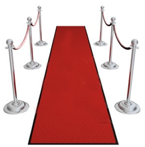 Rent our 3' x 25' long red carpet runner.