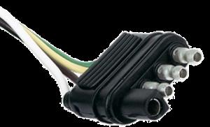 4-Way flat trailer plug