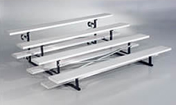 4 row bleachers with rollers