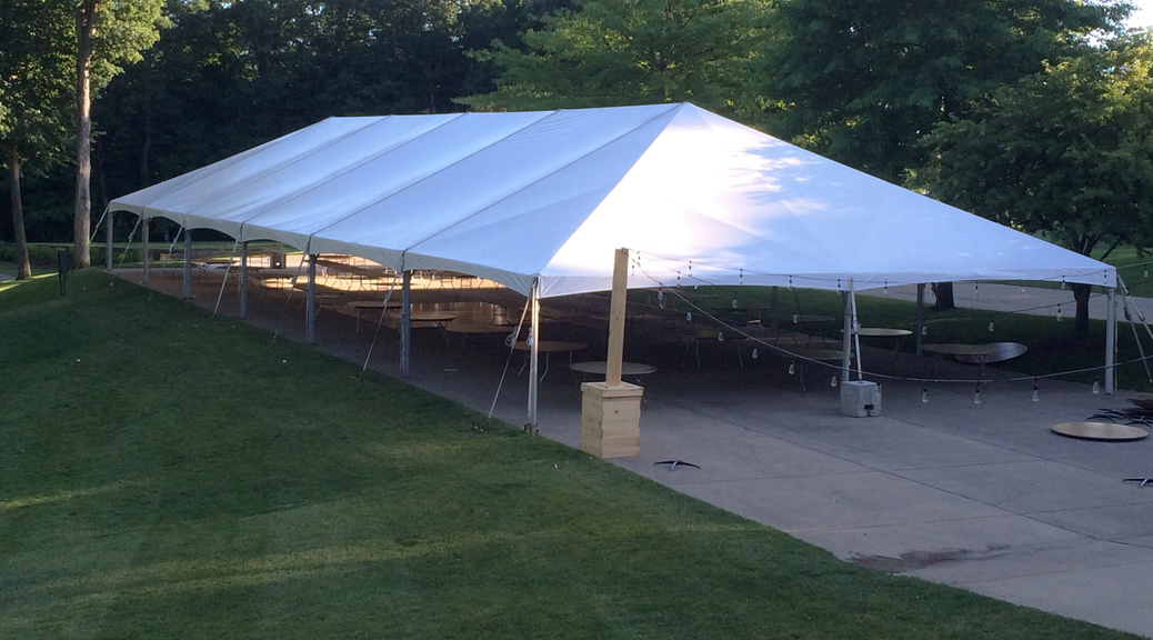 40' x 120' hybrid tent for rent