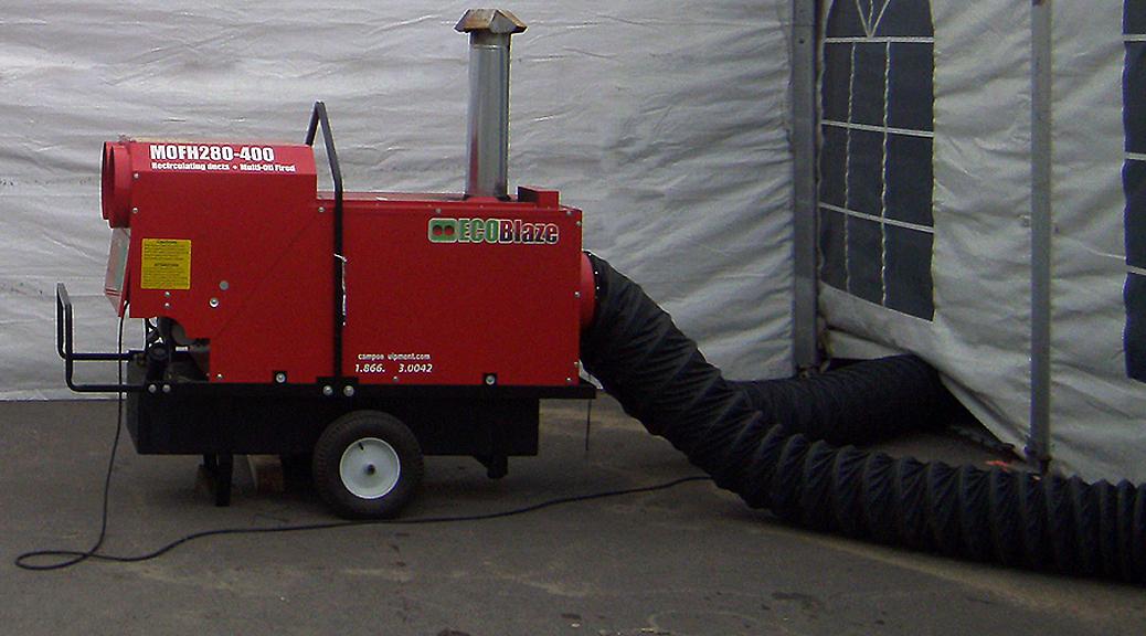400 000 Btu Eco Blaze Indirect Fired Oil Or Diesel Heater