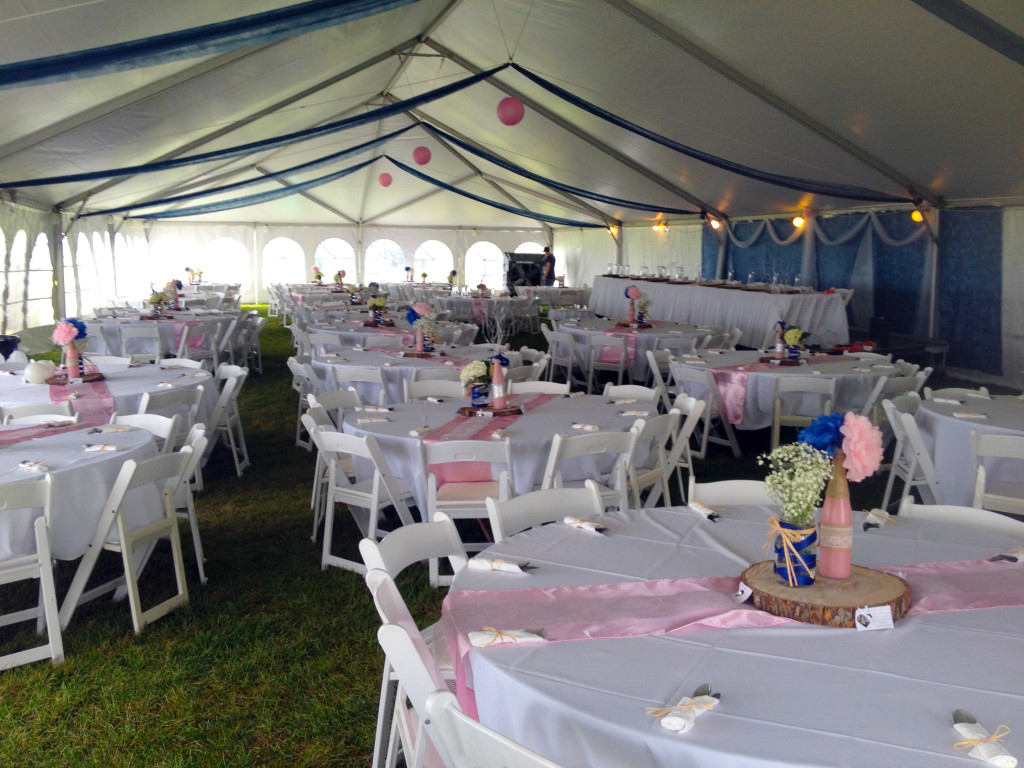 Party Tents For Sale 20x30 >> Wedding reception under our 40' x 100' hybrid tent. - Iowa ...