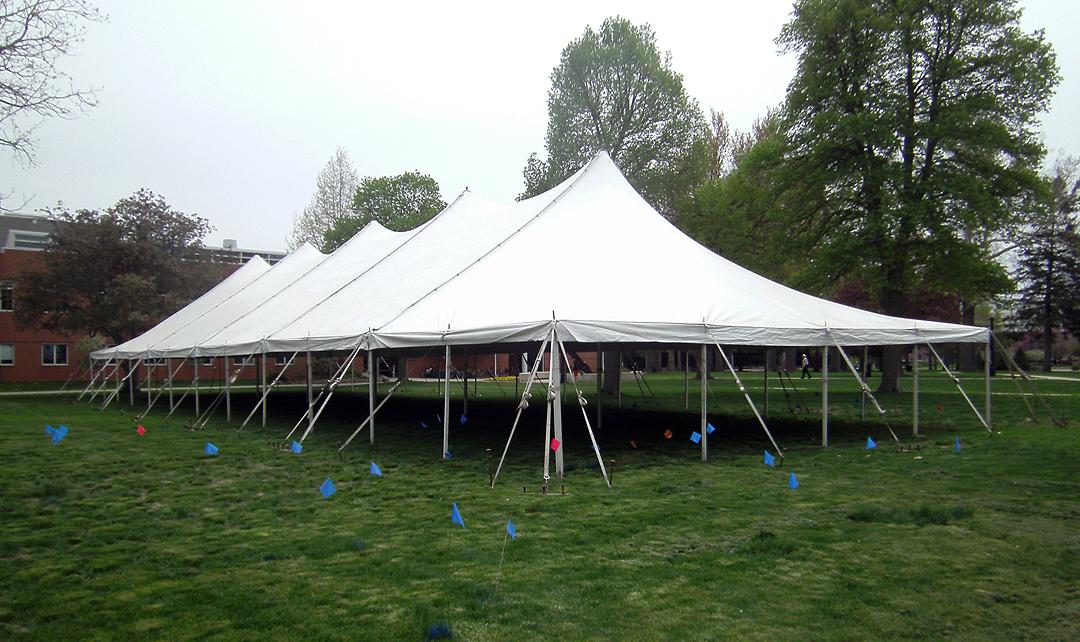 40u2032 x 120u2032 Rope and Pole Tent. & 40ft. x 120ft. Rope u0026 Pole Event Tent Rental in Iowa Illinois ...