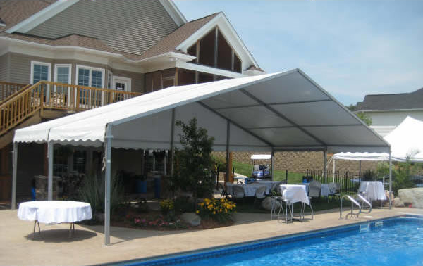 Losberger Clearspan Tent Rental & 40ft. x 20ft. Clearspan Event Structure Rental in Iowa Illinois ...