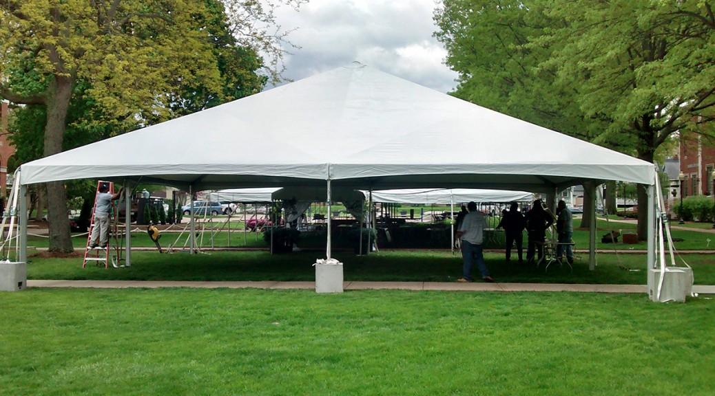 40 X 40 Hybrid Event Tent Structure Rental Iowa IL MO