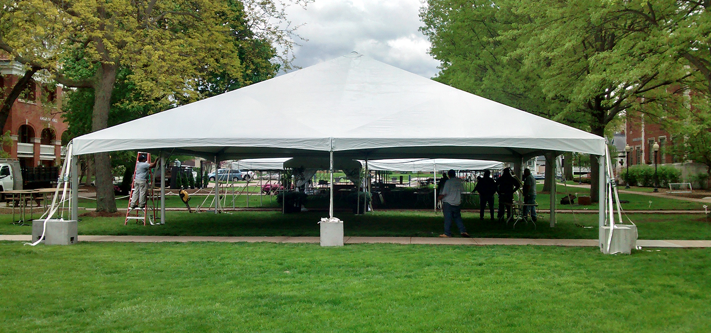 40' x 40' Hybrid event tent/structure rental: Iowa, IL, MO ...