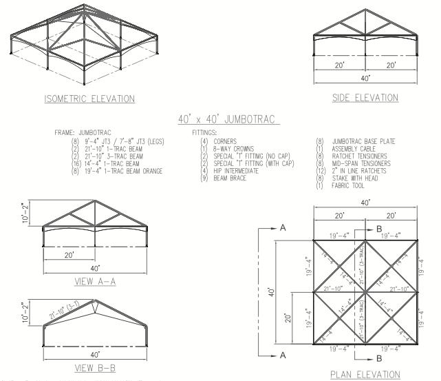 40 u0026 39  x 40 u0026 39  hybrid tent diagram