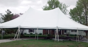 40′ x 60′ rope and pole Elite event tent.