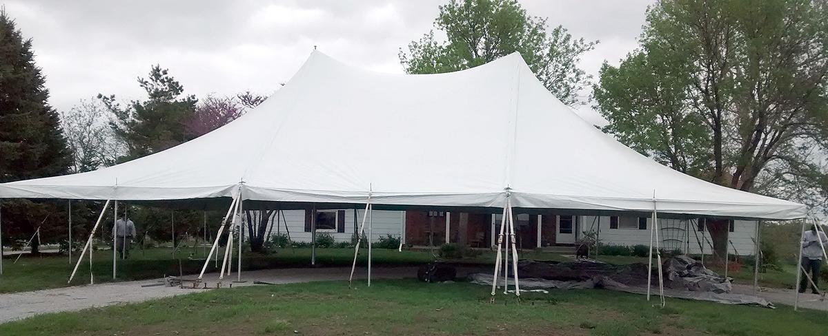 40u2032 x 60u2032 rope and pole Elite event tent. & Elite 40u0027x60u0027 Rope u0026 Pole event tent rental in IA IL MO u0026 WI