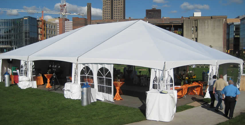 40u0027 x 60u0027 Hybrid event tent with French side walls pulled back. : tents for parties and events - memphite.com
