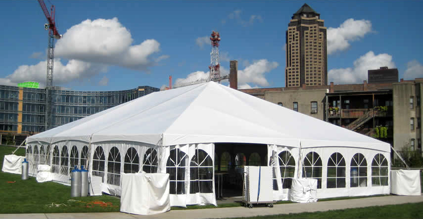 Rent Our 40 X 60 Hybrid Event Tent Shown With French