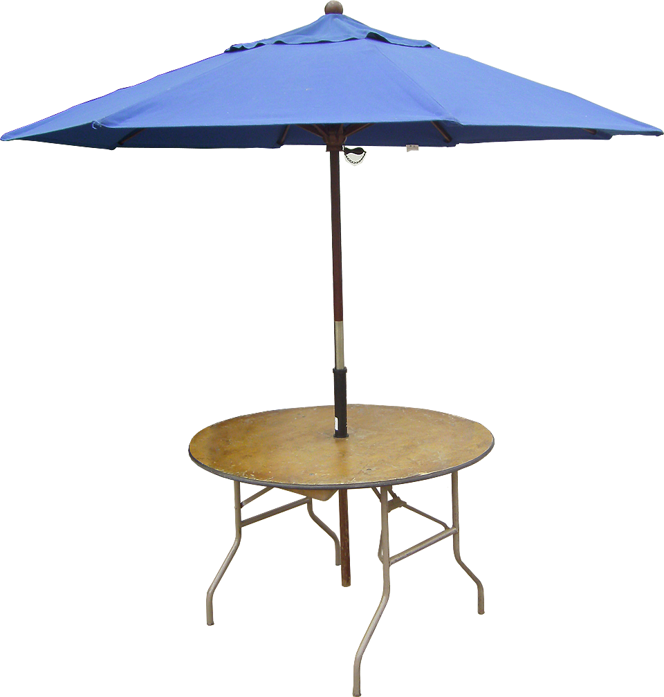48 Quot Round Table With Optimal Umbrella Attachment Hardware