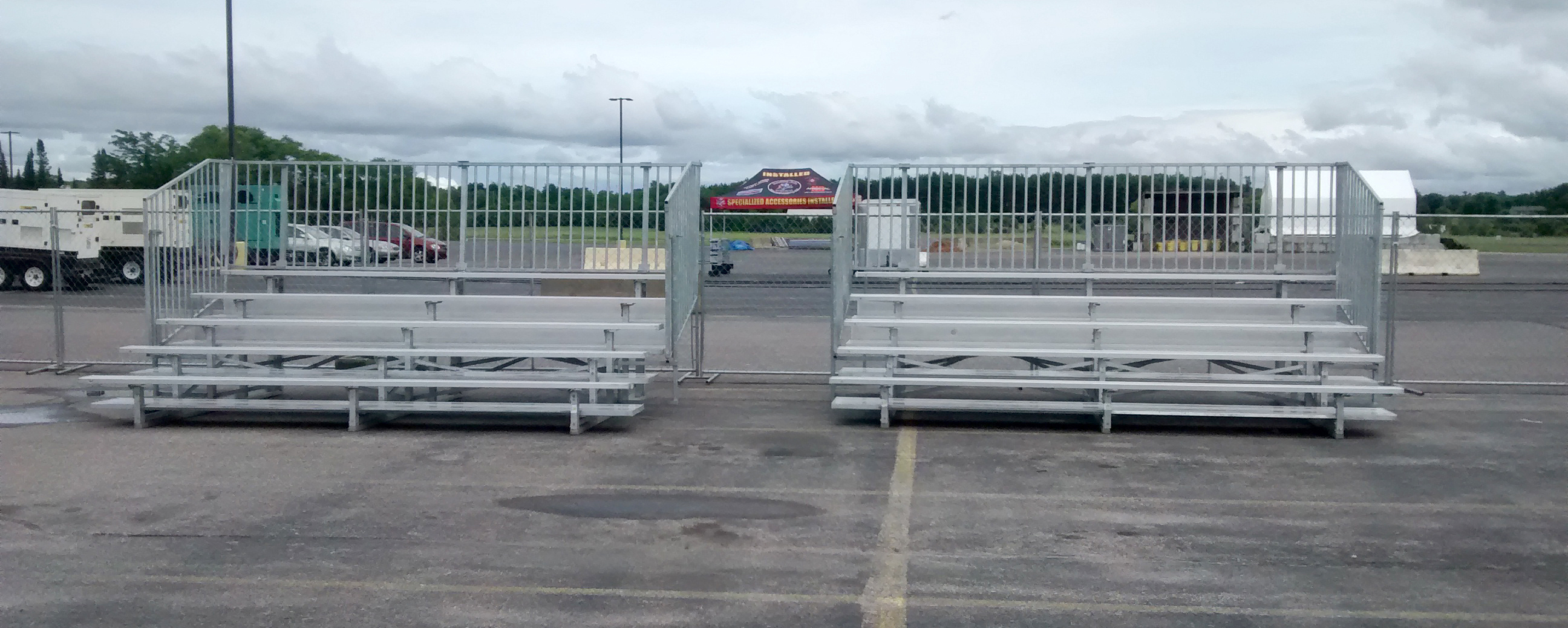 5 Row Quot Quick Seat Quot Gym Bleacher Rental With Railing In Iowa