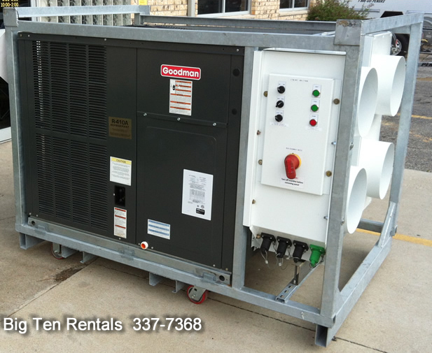 3 5 Ton Ac Unit >> Event Emergency Mobile 5 Ton 3 Phase A C Unit Rental Iowa