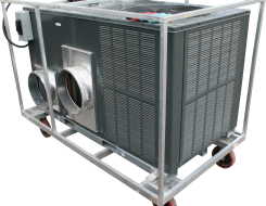 5-ton single phase outdoor air conditioner for rent by Amana.