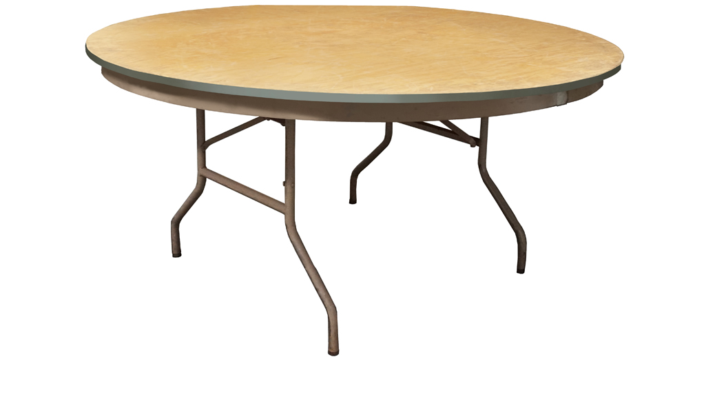 "60"" round table for rent that seats 8 people"