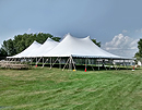 "60' x 120' ""Twin Pole"" Genesis rope and pole tent for rent."