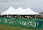 60′ x 120′ rope and pole event tent in North Liberty Iowa