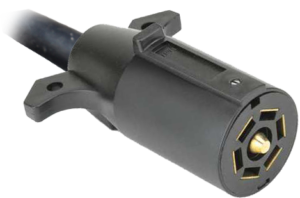 7-Way round blade trailer connector socket