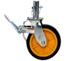 Rent our lockable 8 inch scaffolding casters.