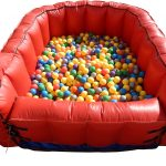 Ball pit with step in area for young kids and toddlers