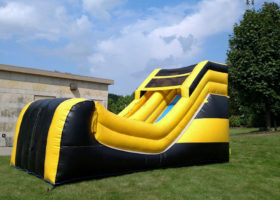 Big Ten's inflatable slide for rent in Iowa City, Cedar Rapids, Washington, IA.