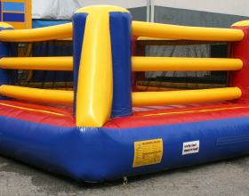 Bouncy boxing ring inflatable rental in Iowa City Cedar Rapids IA