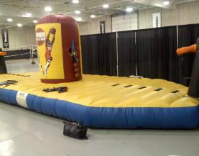 Bungee run challenge inflatable game in Cedar Rapids